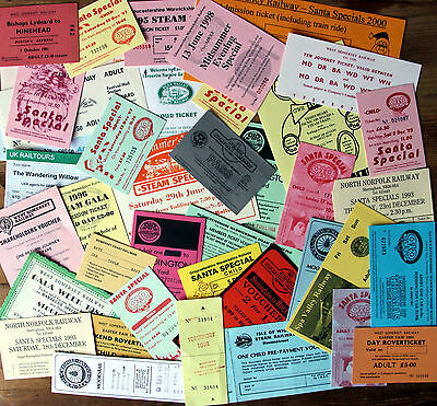 Heritage Railway Tickets - Many Examples Larger Tickets / Passes Etc - 94 Grams