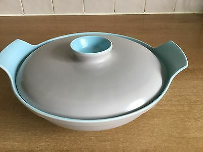 Poole Pottery Twintone - Sky Blue & Dove Grey C104 - Serving Dish