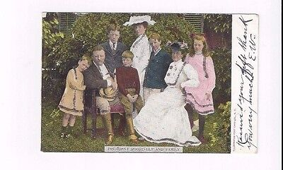 Antique 1906 udb IPPC Co Post Card President Roosevelt & Family