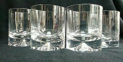 Set of 4 Dartington Crystal DIMPLE Glass Whisky Tumbler, A1 condition