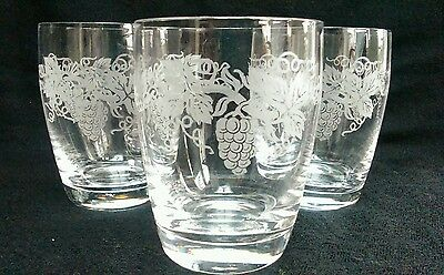 3 Vintage Crystal Glass Old Fashioned Whisky Tumblers
