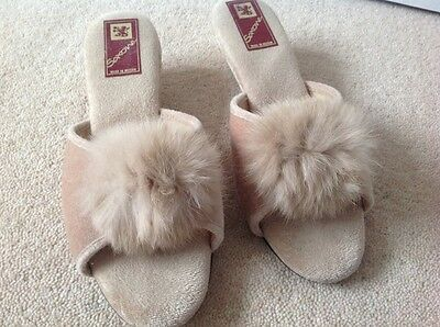 Vintage Saxone mules slippers open toe wedge size 4