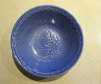 "Vtg. Ralston Purina ""Find the Bottom - All Gone"" Child's Cereal Bowl"