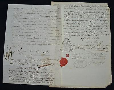 1839 Manuscript Signed By Count Of Bourmont, War Minister, Napoleon