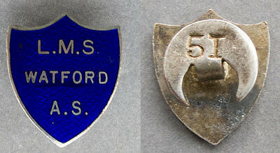 LMS Watford A.S. Lapel Badge