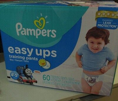 Pampers Boys Easy Ups Training Underwear 4T-5T (Size 6) 60 Count 4T-5T (S... New