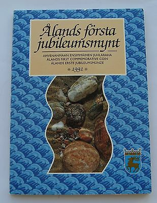 Finland 100 Markkaa 1991 Aland Blister Official Edition High Condition !!!