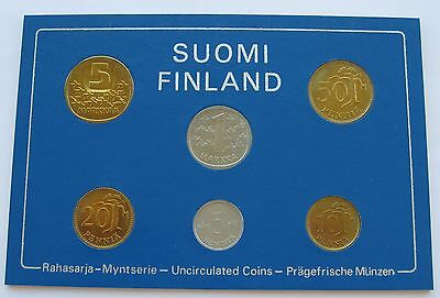 Finland 1980 Official Coin Mint Set KMS UNC !!!!