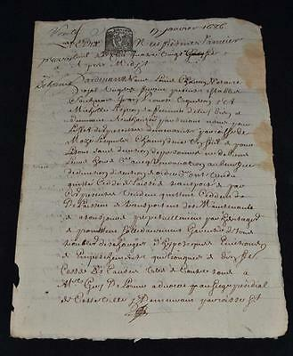 1686 French Manuscript on Paper * TOURS *  France
