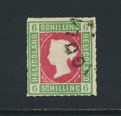 HELIGOLAND 1867, 6Sch VF USED SG#4 (SEE BELOW)