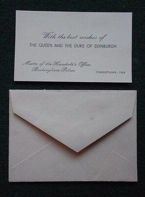 Printed Christmas Card for a Present from Queen Elizabeth II & Prince Philip