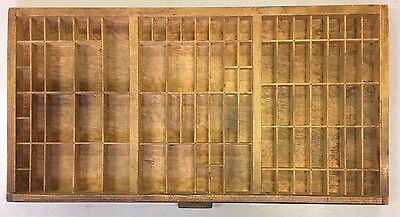 Oak Front Typeset Tray Drawer 32.25 X 16.75 Inches Shadowbox