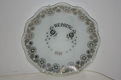"""wedding Day"" Glass Plate, Excellent Condition"