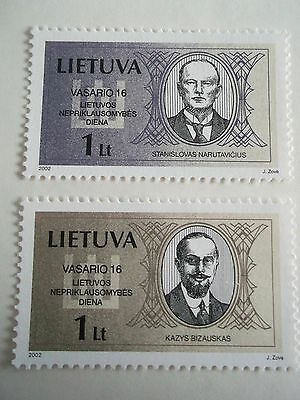 2002 Lithuania National Day Signatories  unmounted mint sg776/7