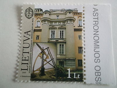 2003 Lithuania 250th Anniv. of Astronomical Observatory u/m sg810