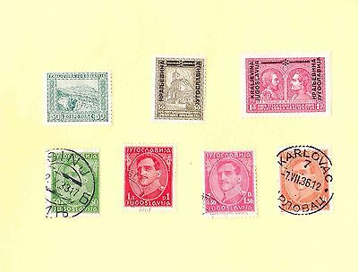 YUGOSLAVIA STAMPS 1930s MIXED LOT including King Alexander