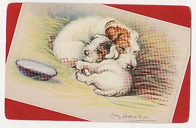 LUCY DAWSON DOGS TERRIERS  Single Vintage Swap/Playing Card