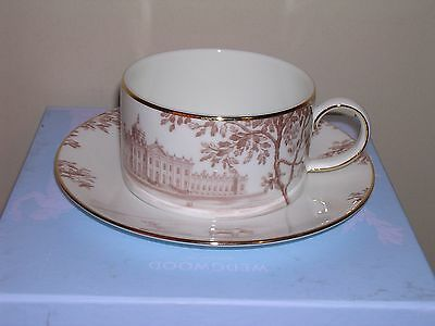 Wedgwood Low Tea Cup & Saucer  ~ Palladian Design ~ Boxed