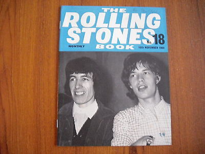 THE ROLLING STONES MONTHLY BOOK - No. 18 - NOVEMBER 1965 - ORIGINAL WITH FLYER