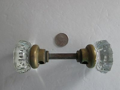 Antique  12 Point Crystal Glass Door Knobs/handles Victorian Architectural