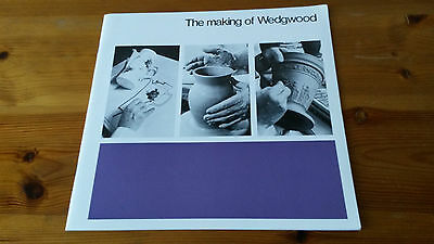Scarce booklet - THE MAKING OF WEDGWOOD - 1977 Published Lund Humphries