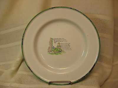 Antique, Granite Wear Childs Plate With Nursery Rhyme