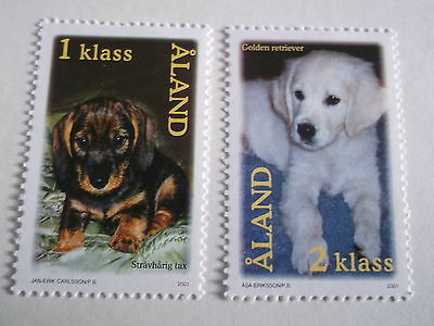 2001 Aland Puppies unmounted mint sg205/6