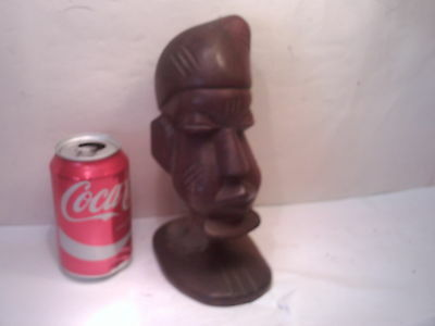 hand carved wood african ltribal head