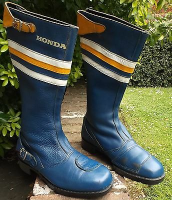 HONDA STYLE MOTORCYCLE BOOTS SIZE 6 1970's CB400F CB750 FOUR CBX1000