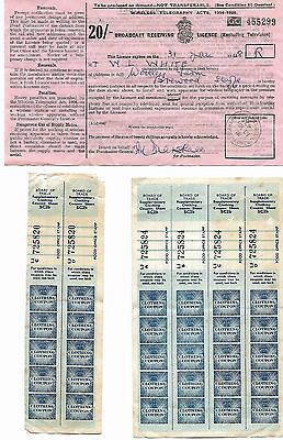 Post WWII Documents National Insurance Wireless Licence Clothing Coupons  [7903]