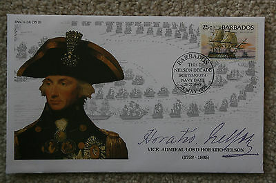 """horatio Nelson"" - The Nelson Decade 1996 Barbados Stamp Cover"