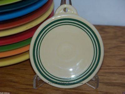 Triple Bands in Green on a Fiesta® Ivory Ornament - Limited - Only 40 made
