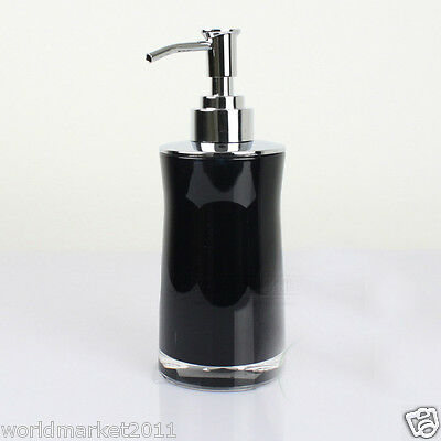 New Acrylic Black Manual Control Soap Dispenser Hand Sanitizer Machine