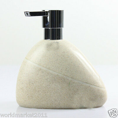 New Beige Polyresin Manual Control Soap Dispenser Hand Sanitizer Machine