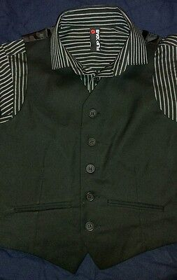 Boys Smart Shirt and Waistcoat Set Age 8 Years  New Without Tags