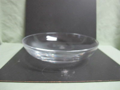 Vintage heavy Clear Blown Glass Bowl