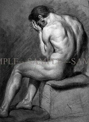 Photo of MALE NUDE CHARCOAL DRAWING