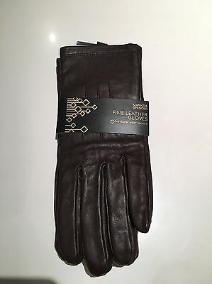 M&S Brown Leather gloves