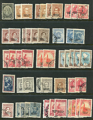 REPUBLICA ARGENTINA SERVICIO OFICIAL & Overprint lot of used and unused stamps