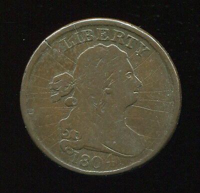 1804 crosslet 4 / stems 1/2 Cent nice circulated coin