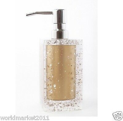 New Gold Polyresin Manual Control Soap Dispenser Hand Sanitizer Machine &$