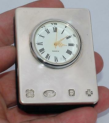Millenium Year 2000 Sterling Silver Travelling Clock In Fitted Case
