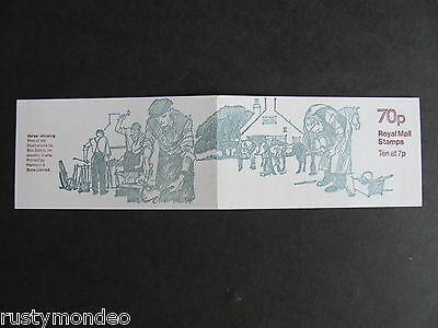 FD2a, 70p,County Crafts series Booklet, Design No 1-  Horse Shoeing, MNH