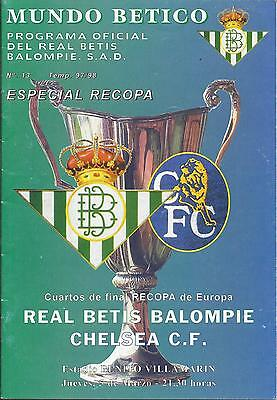 Real Betis v Chelsea European Cup Winners' Cup 1997/98