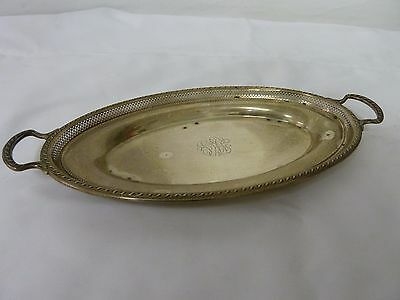 Vintage Sterling Silver Oval Platter Tray With Handles 290 grams