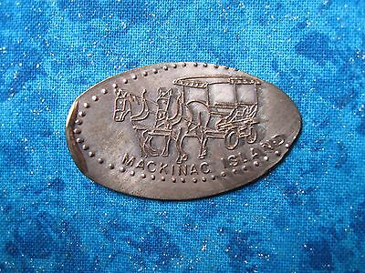 MACKINAC ISLAND CARRIAGE COPPER Elongated Penny Pressed Smashed 10m