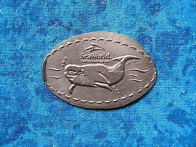 SEAWORLD ORCA COPPER Elongated Penny Pressed Smashed 10k
