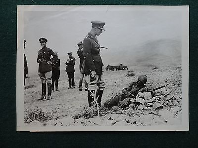 Antique Original Press Photo of King George II of Greece Troops Fight Italy