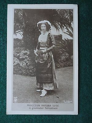 Antique Photo Postcard of Princess Victoria Louise of Prussia in National Dress
