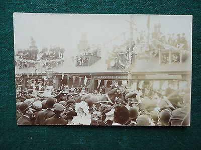 Antique Photo Postcard King George V Queen Mary in a Royal Carriage